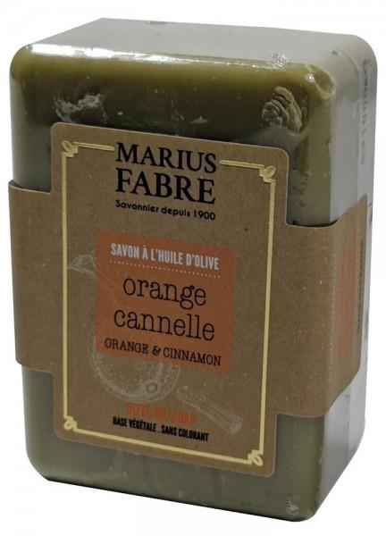 Marius Fabre Bio-Olivenöl Seife Orangenschale & Zimt Shea-Butter 150g