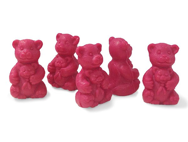 5 x Seife Bär Rot Himbeere (Bebe Ours Rouge Framboise) Kinderseife Tierseife Motivseife 5x30g