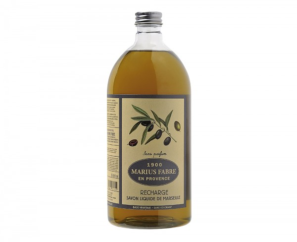 Marius Fabre Flüssigseife Neutral (ohne Parfumzusätze) Bio-Olivenöl 1L