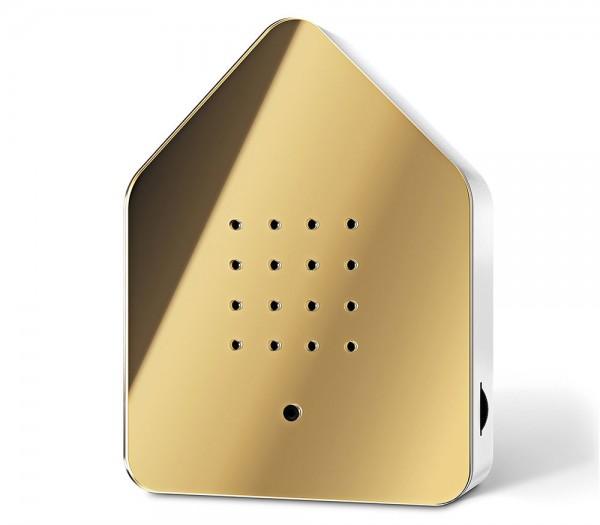 Zwitscherbox Spiegel Gold Vogelgezwitscher mit Bewegungsmelder Vogelstimmen