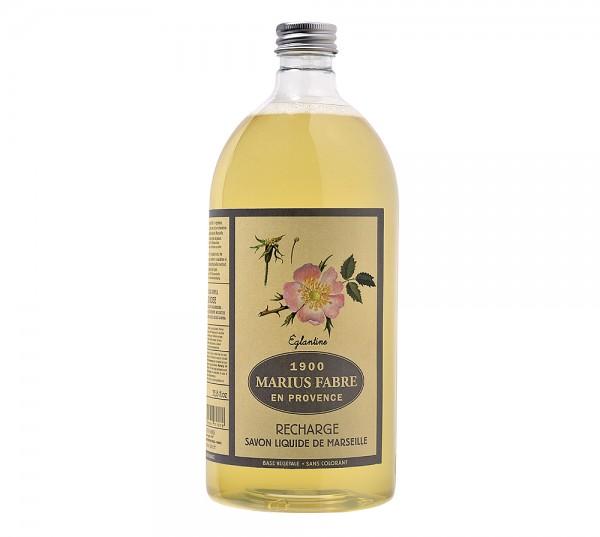Marius Fabre Flüssigseife Heckenrose (parfumé à l'Eglantine) Bio-Olivenöl 1L