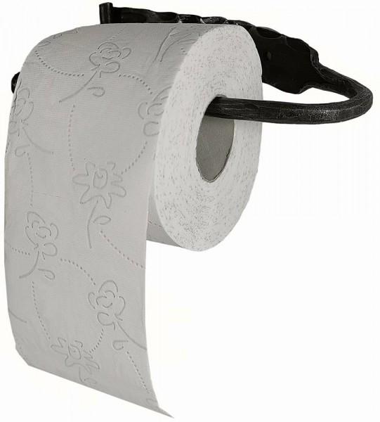 Toilettenpapierhalter Schmiedeeisen Nostalgie WC-Papierhalter Antik-Stil Schwarz
