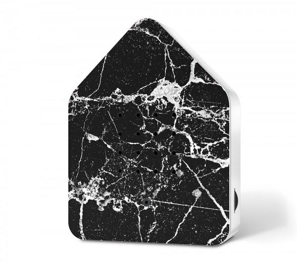 Zwitscherbox Marmor Schwarz Vogelgezwitscher mit Bewegungsmelder Vogelstimmen