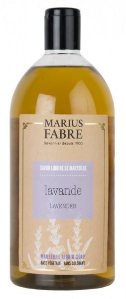 Marius Fabre Flüssigseife Lavendel (Lavande) mit Bio-Olivenöl - 1L