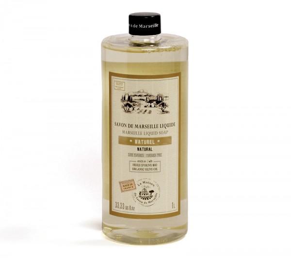 Flüssigseife Naturel (ohne Parfumzusätze) mit Bio-Olivenöl 1L