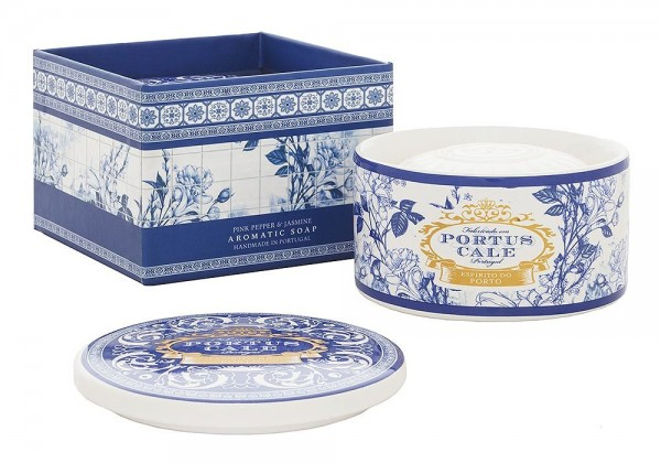 Castelbel Portus Cale Seife Gold & Blue in Keramik-Box Olivenöl-Seife - 150g