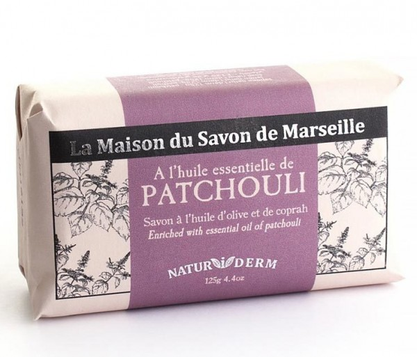 Natürliche Seife Naturiderm Patchouli (Patschuli) - Ohne EDTA - 125g