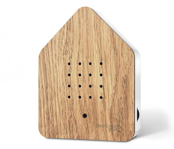 Zwitscherbox Wood Eiche Weiß Vogelgezwitscher mit Bewegungsmelder Vogelstimmen