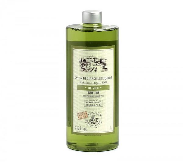 Flüssigseife Huile D'Olive (Olivenöl) mit Bio-Olivenöl 1L