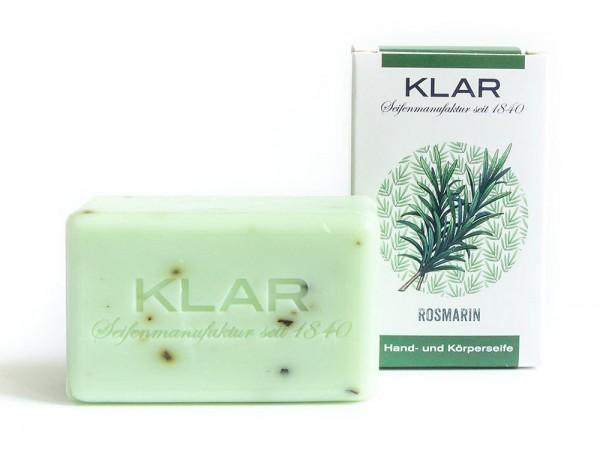 KLAR Seife Rosmarin Rosmarinseife (palmölfrei) Hand- und Körperseife 100g