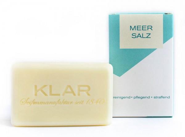 KLAR Meersalzseife (palmölfrei) Reinigend Pflegend Straffend 100g