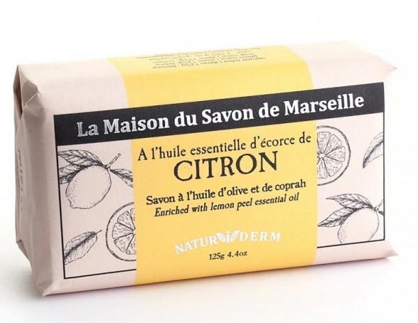 Natürliche Seife Naturiderm Citron (Zitrone) - Ohne EDTA - 125g