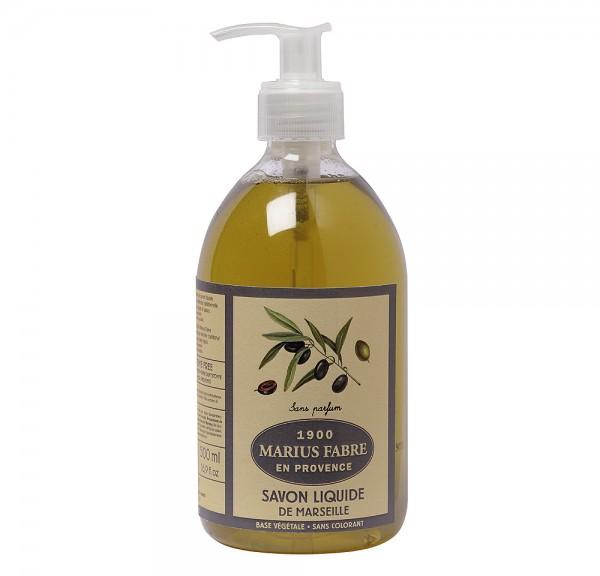 Marius Fabre Flüssigseife Neutral (ohne Parfumzusätze) Bio-Olivenöl 500ml