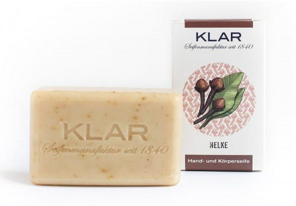 KLAR Seife Nelke Nelkenseife (palmölfrei) Hand- und Körperseife 100g