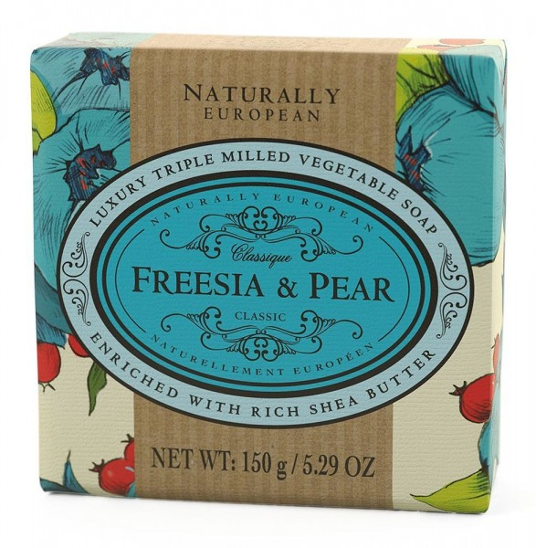 Naturally European Seife Freesia & Pear 150g