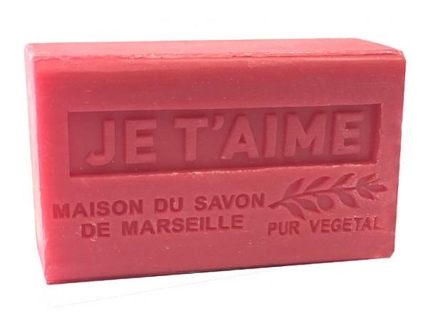 Provence Seife JE T'AIME (Ich liebe Dich) - Bio-Sheabutter 125g