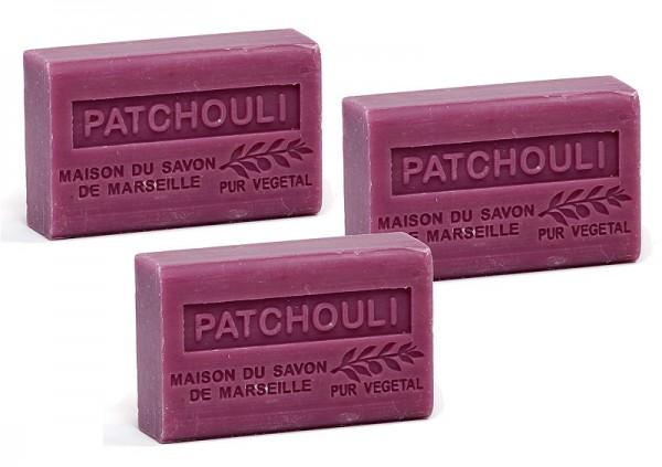3 x Provence Seife Patchouli - Karité a`60g