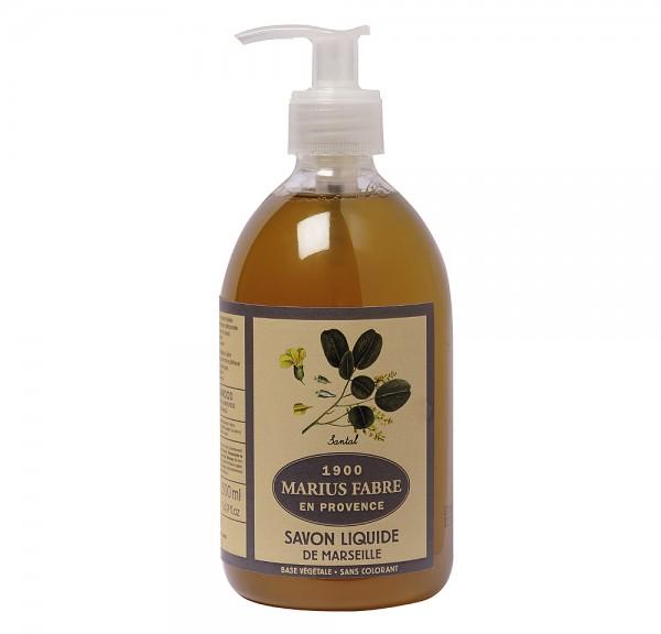 Marius Fabre Flüssigseife Sandelholz (parfumé au Santal) Bio-Olivenöl 500ml