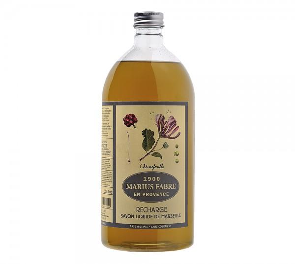 Marius Fabre Flüssigseife Geißblatt (Chèvrefeuille) Bio-Olivenöl 1L