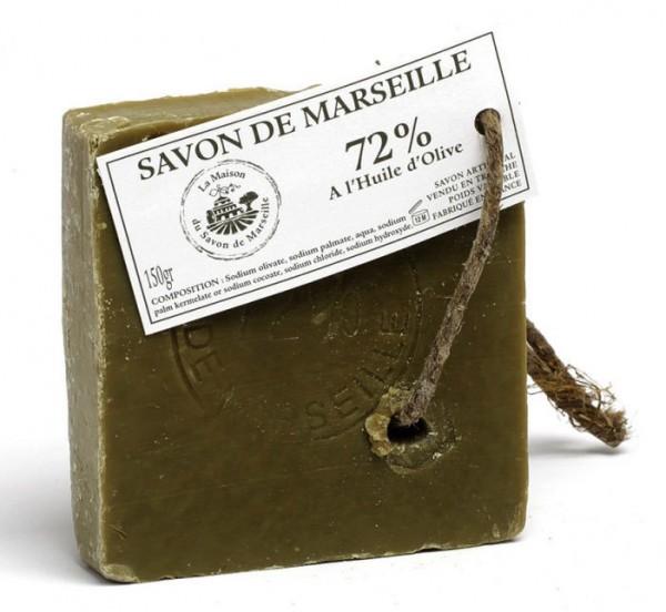 Savon de Marseille Seifenscheibe Seife 72% Olivenöl 150g