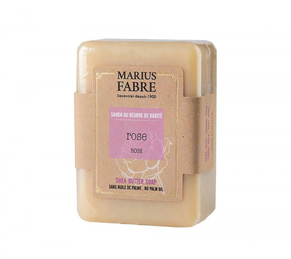 Marius Fabre Bio-Olivenöl Seife Rose (Rose`) mit Shea Butter ohne Palmöl 150g