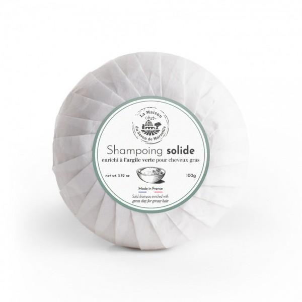 Provence Festes Shampoo für fettiges Haar Argile Verte (Grüner Ton) 100g