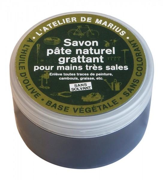 Marius Fabre Seife mit Olivenöl und Olivenkernen für sehr schmutzige Hände 200g