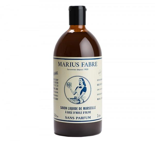 Marius Fabre Flüssigseife Nature (ohne Parfumzusätze) Bio-Olivenöl 1L