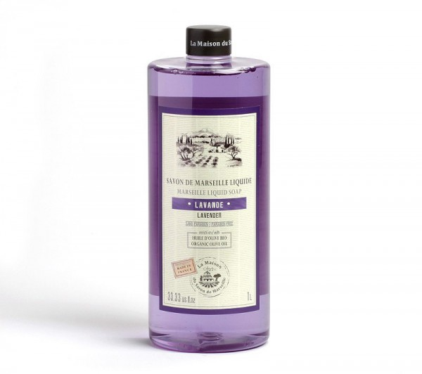 Flüssigseife Lavendel (Lavande) mit Bio-Olivenöl 1L