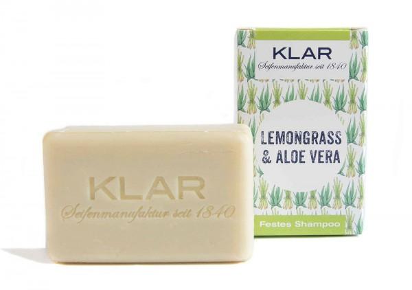 KLAR Festes Shampoo Lemongrass & Aloe Vera - fettiges Haar - 100g