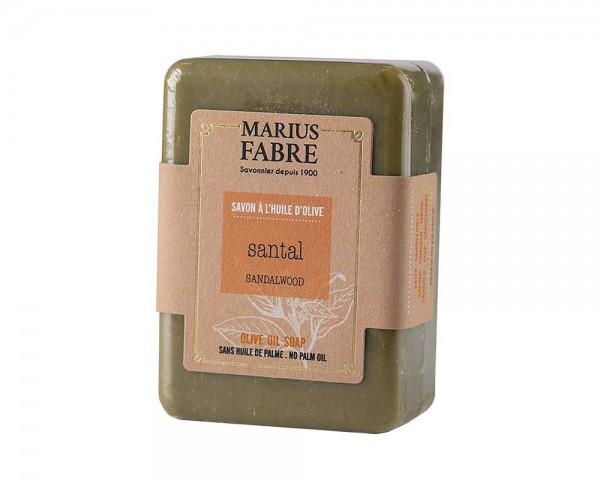 Marius Fabre Bio-Olivenöl Seife Sandelholz (Santal) ohne Palmöl 150g