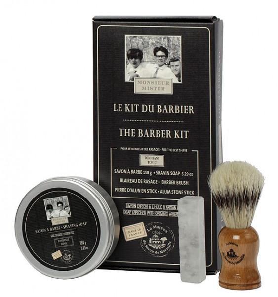 Rasierset Rasierpinsel Dachshaar Rasierseife Alaunstein Männer Herren Geschenk