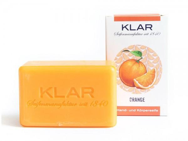 KLAR Seife Orange Orangenseife (palmölfrei) Hand- und Körperseife 100g