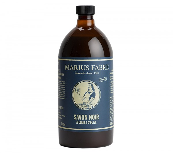 Marius Fabre Savon Noir Schwarze Olivenöl Flüssigseife Allzweckseife 1 Liter