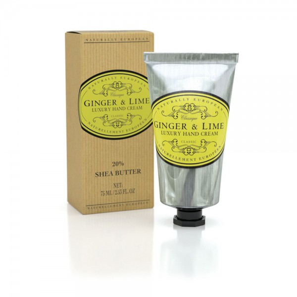 Naturally European Hand Cream Ginger & Lime 75ml Tube
