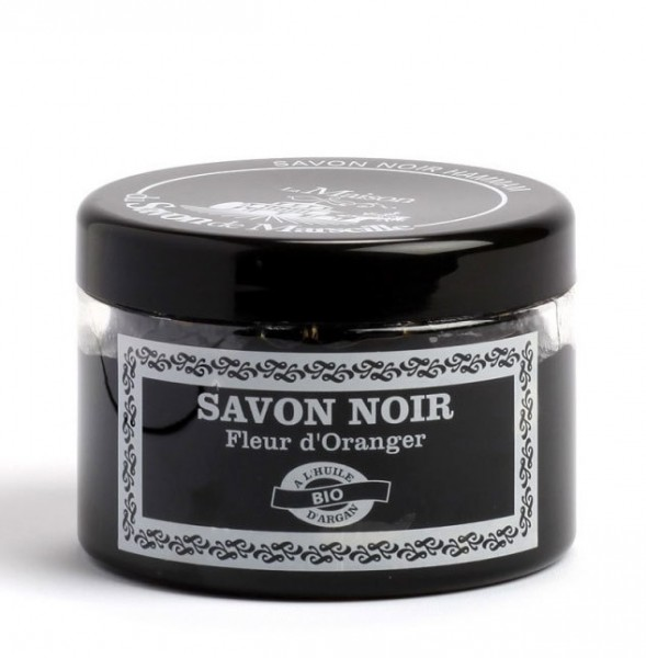 Schwarze Hammam Seife Savon Noir Arganöl Orangenblüten 300ml Peeling