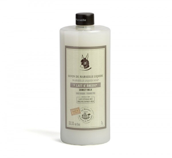 Flüssigseife Eselsmilch (Lait D`Anesse) mit Bio-Olivenöl 1L