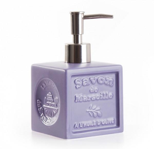 "Seifenspender ""Savon de Marseille"" Keramik Lavendel"