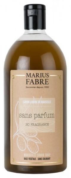 Marius Fabre Flüssigseife Parfümfrei (Sans Parfum) mit Bio-Olivenöl - 1L