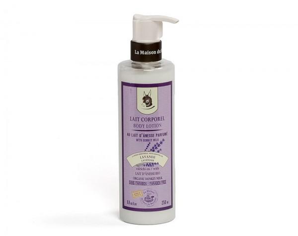 Körpermilch LAVANDE (mit Lavendelöl) mit Bio Eselsmilch 250ml
