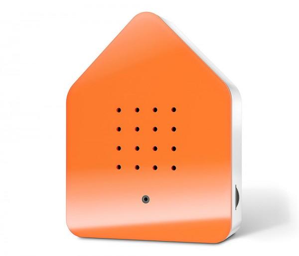 Zwitscherbox Classic Orange Vogelgezwitscher mit Bewegungsmelder Vogelstimmen