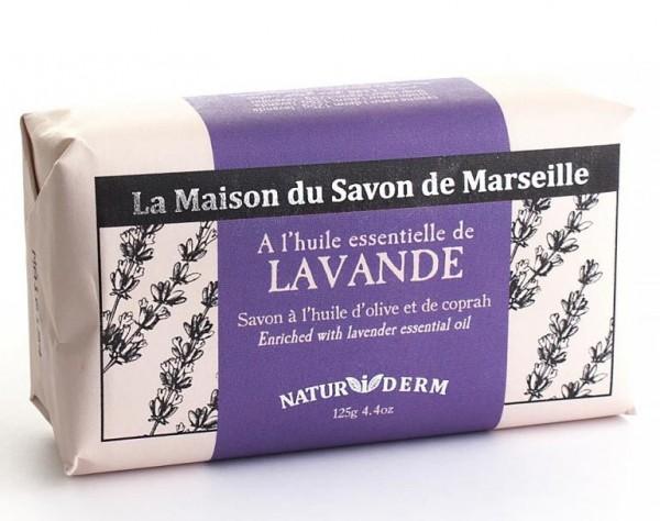 Natürliche Seife Naturiderm Lavande (Lavendel) - Ohne EDTA - 125g