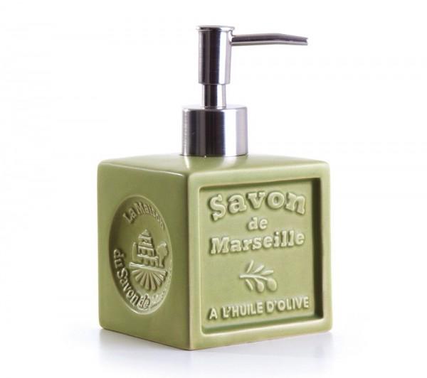 """Seifenspender """"Savon de Marseille"""" Keramik Olive"""