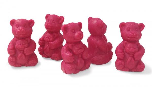 5 x Seife Bär Rot Himbeere (Bebe Ours Rouge Framboise) Kinderseife Tierseife Motivseife 5x30g