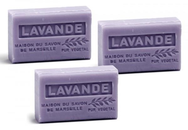 3 x Provence Seife Lavande (Lavendel) - Karité a`60g