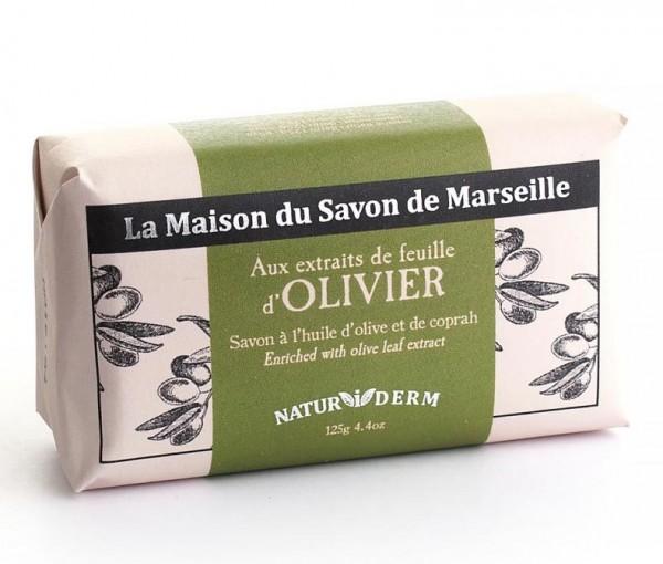 Natürliche Seife Naturiderm Olivier (Olive) - Ohne EDTA - 125g