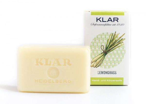 KLAR Seife Lemongrass Zitronengras (palmölfrei) Hand- und Körperseife 100g