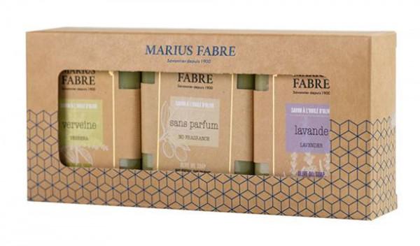 Marius Fabre 3 Seifen lavende sans parfum verveine a` 100g Geschenkbox