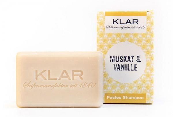 KLAR Festes Shampoo Muskat & Vanille (für normales Haar) 100g