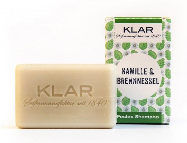 KLAR Festes Shampoo Kamille & Brennnessel (für störrisches Haar) 100g